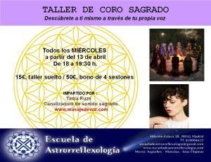 taller de coro sagrado astro SOLO DATOS